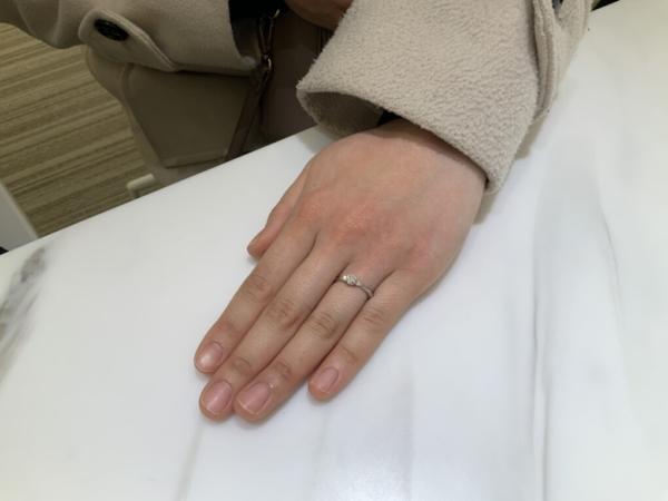 大阪府吹田市 HOSHInoSUNAの婚約指輪をご成約頂きました。