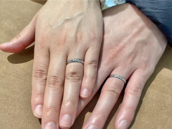 西宮市 ミンサーリングの結婚指輪をご購入していただきました。