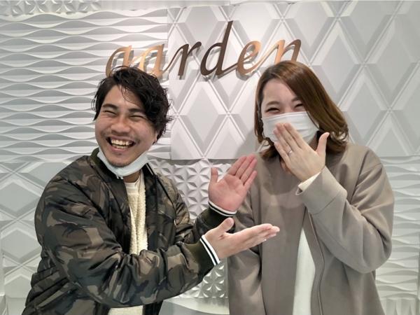神戸市西区 YUKAHOJO、et.luの結婚指輪をご成約頂きました。