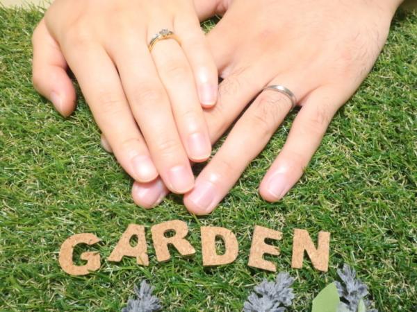 シェールラブの婚約指輪・ロゼットの結婚指輪 大阪府大阪市