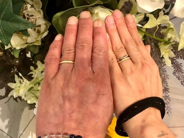 大人気ディズニーシリーズラプンツェルの結婚指輪をご成約いただきました