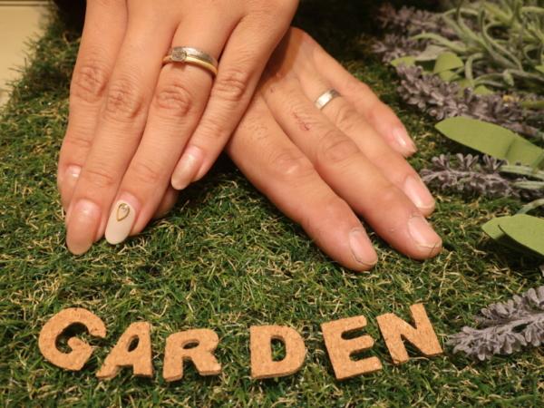 ORECCHIOの婚約指輪とFISCHERの結婚指輪 奈良県高市郡
