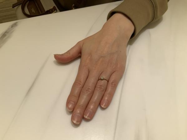 大阪府・大阪市 LAPAGEの婚約指輪をご成約頂きました
