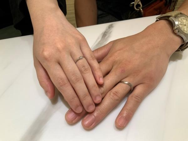 兵庫県明石市 LAPAGEの結婚指輪をご成約頂きました