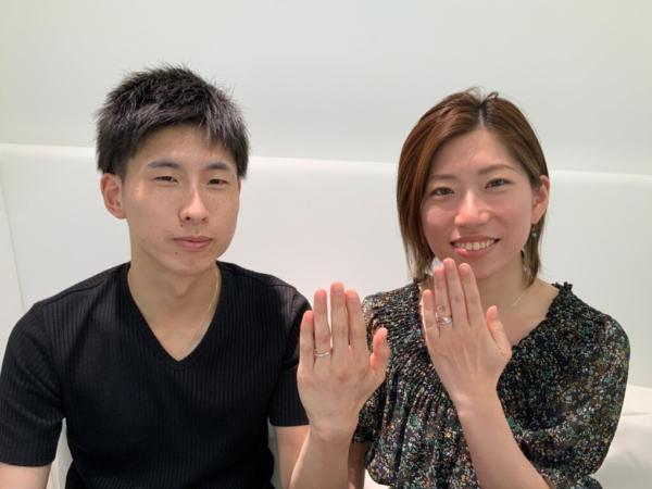 兵庫県神戸市 Lettet mitteの婚約指輪とOCTAVEの結婚指輪をご成約頂きました