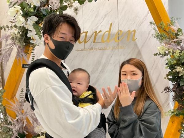 滋賀県湖南市|プリートの結婚指輪をご成約いただきました