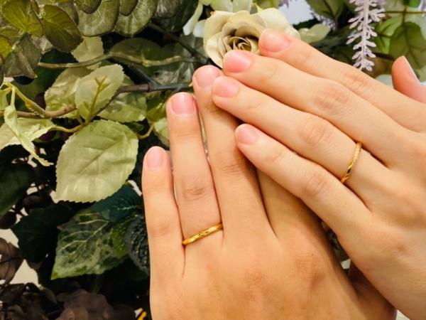 大阪府東淀川区・京都市相楽郡|アンティークな結婚指輪ブランドユカホウジョウの結婚指輪をご成約いただきました
