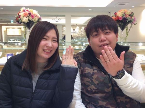 姫路市 FISCHERとひなの結婚指輪をご成約頂きました。