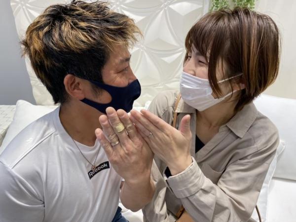 兵庫県たつの市「インセンブレ」と「アムールアミュレット」の結婚指輪をご成約頂きました。