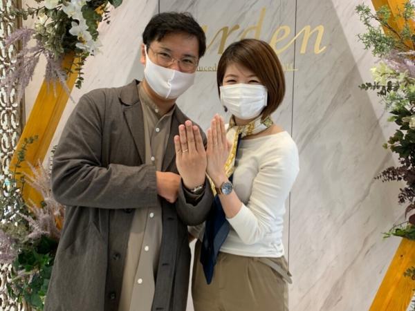名古屋市|フィッシャーの結婚指輪をご成約いただきました