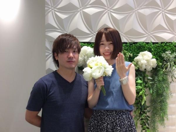 姫路市 Only youの婚約指輪をご成約頂きました。