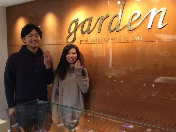 兵庫県姫路市「ひな」の結婚指輪をご成約頂きました。