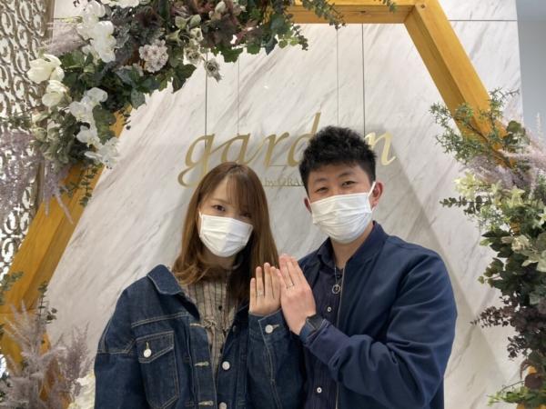 滋賀県|ディズニー・シンデレラの結婚指輪をご成約いただきました