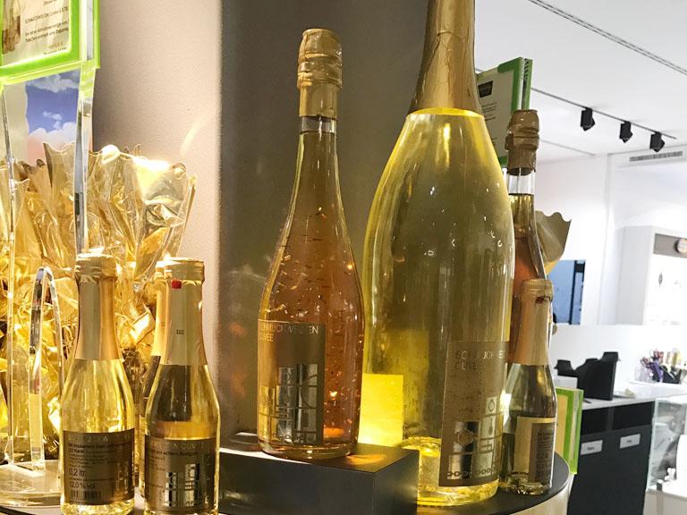 金箔いりの白ワイン