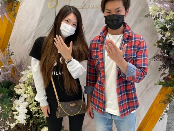 京都市伏見区|フィッシャーの結婚指輪をご成約いただきました