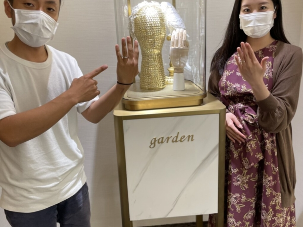 京都|チタン素材ティタニオの結婚指輪をご成約いただきました
