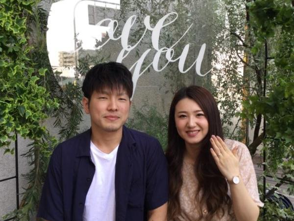 大阪府泉大津市ジュエリーリフォームでgardenオリジナルの婚約指輪