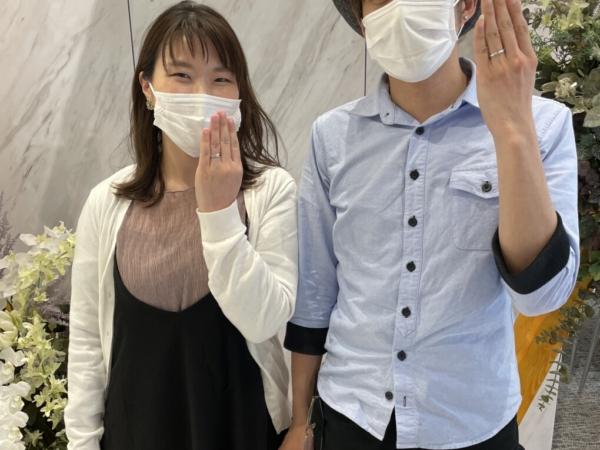 滋賀県大津市|ロゼットの婚約指輪・マリアージュエントの結婚指輪をご成約いただきました
