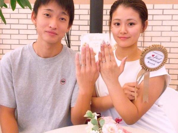 大阪府岸和田市 ディズニーシンデレラ・ロゼット(RosettE)の結婚指輪