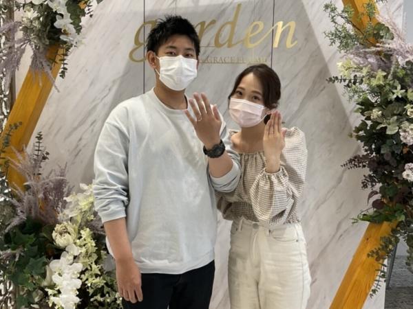 京都市南区・伏見区|スイートブルーダイヤモンドの結婚指輪をご成約いただきました