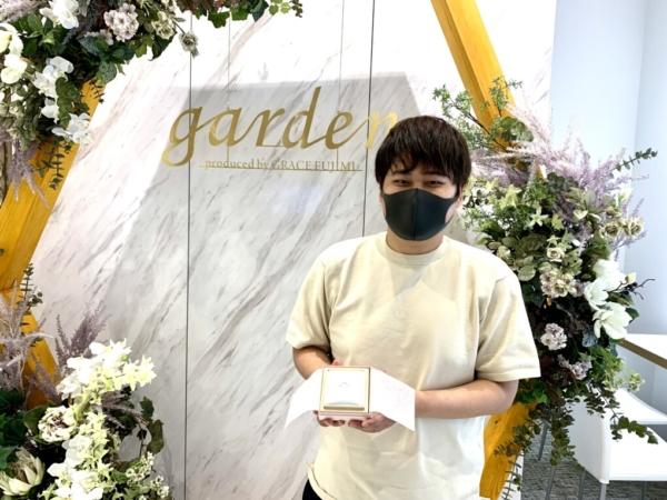 滋賀県草津市 ロゼットの婚約指輪・アイデアルダイヤモンドをご成約いただきました