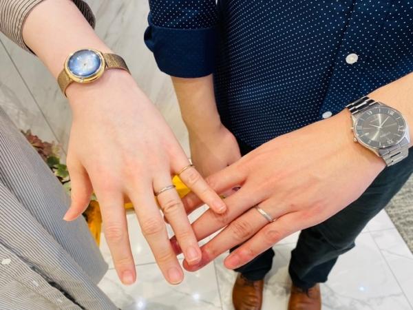 京都市中京区|世界トップの強度を誇るフィッシャーの結婚指輪をご成約いただきました。
