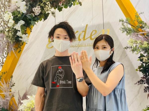 京都市・北区|世界最高峰の強度を誇るフィッシャーの結婚指輪をご成約いただきました