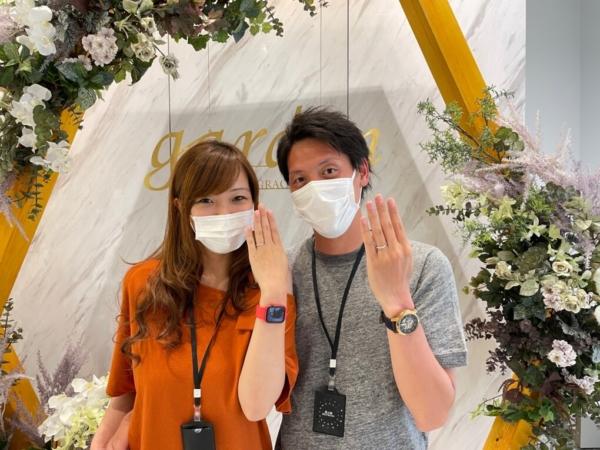 京都市・伏見区|アフターサービスも充実したマリアージュ・エントの結婚指輪をご成約いただきました