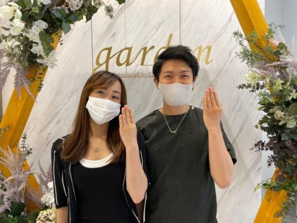 京都市伏見区・山科区|肌なじみのいいハニーブライドの結婚指輪と鍛造ブランドインセンブレの結婚指輪をご成約いただきました