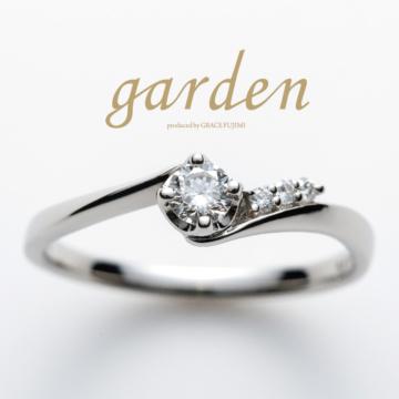 ウェーブの婚約指輪エンゲージリング安い2