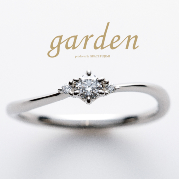 ウェーブの婚約指輪エンゲージリング安い