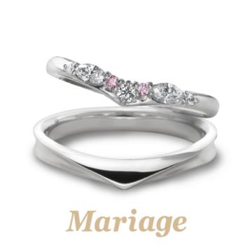 マリアージュエントロンボヌールの結婚指輪1