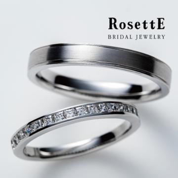 ロゼット指輪プリンセスカットのエタニティすぐりの実