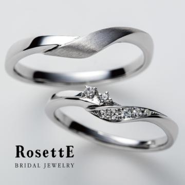 ロゼット指輪新作つるバラ結婚指輪