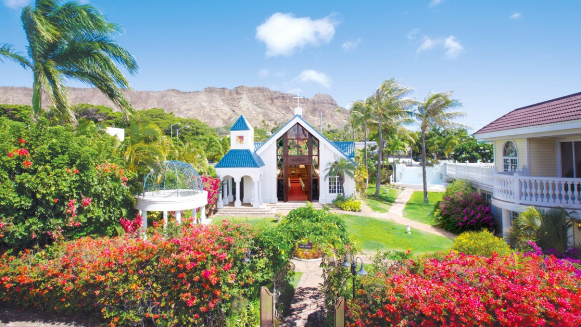 Diamond head Anela Garden Chapel ハワイ