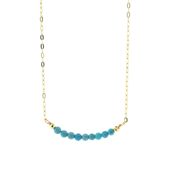 Line Turqoise Necklace~ターコイズネックレス~
