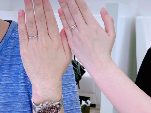 明石市 QuanddeMariageの結婚指輪をご成約頂きました