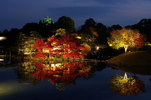 岡山の夜景でプロポーズするなら岡山後楽園