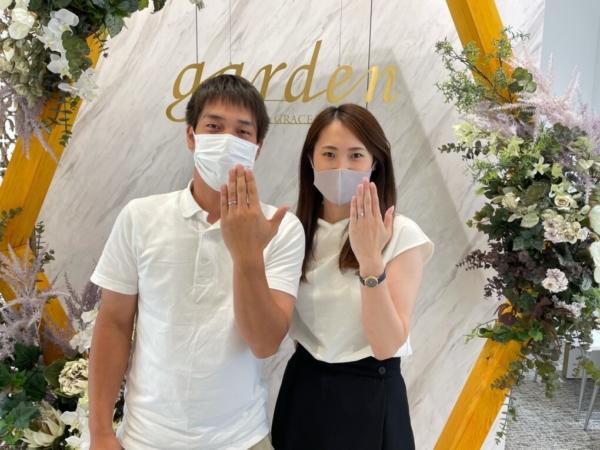 京都府八幡市・長岡京市 ブライダルパックで婚約指輪と着け心地に感動したフィッシャーの結婚指輪をご成約いただきました