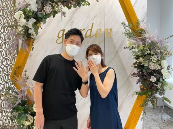 大阪府 枚方市 マットなデザインが人気なフィッシャーの結婚指輪をご成約いただきました