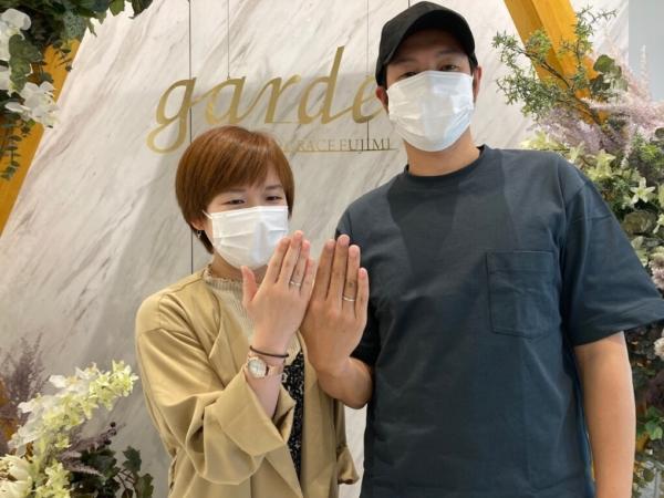 大阪市・都島区|手作りペアリング(指輪)を作成いただきました