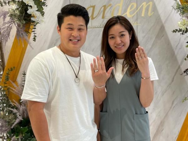 京都・奈良|ハワイアンジュエリー マイレの結婚指輪をご成約いただきました