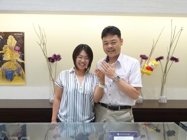 大阪泉南市 serieuxの指輪をご成約のお客様です。