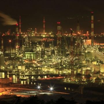 大阪のサプライズプロポーズ 水島コンビナート工場夜景