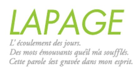 LAPAGEのロゴ
