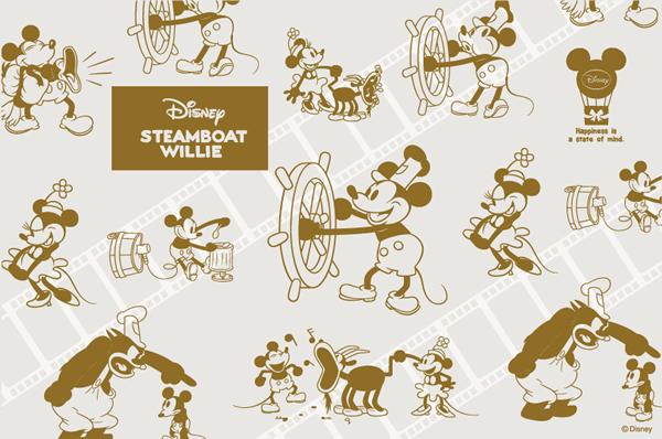 ディズニーミッキーマウスのスチームボートウィリーをテーマにした婚約指輪・結婚指輪のブランドのイメージ