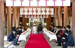 大阪のサプライズプロポーズ 吉備津彦神社