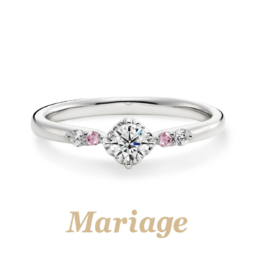 マリアージュエントロンボヌールの婚約指輪2