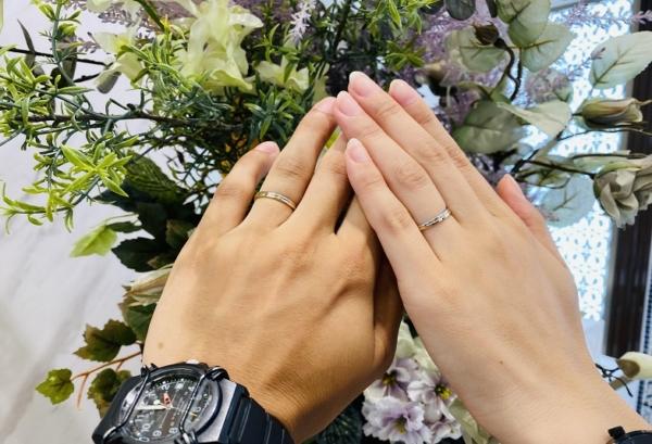 三重県・鈴鹿市|デザインをカスタマイズできるドイツブランドFISCHERの結婚指輪をご成約いただきました