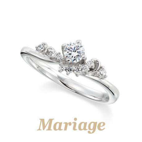 ウェーブの高品質婚約指輪は大阪garden梅田